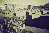 Vintage sepia Holocaust memorial, Berlin — Stock Photo