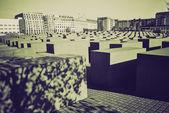 Vintage sepia Holocaust memorial, Berlin — Stock Photo