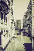Vintage sepya Venedik venezia — Stok fotoğraf