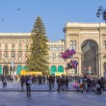 Piazza Duomo Milan — Stock Photo #38262559