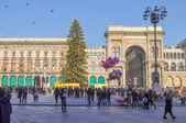 Piazza Duomo Milan — Stock Photo