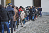 People queueing — Stock Photo