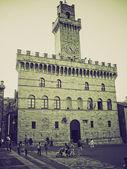 Vintage sepia Montepulciano, Italy — Stock Photo
