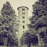 Vintage sepia St Apollinare in Classe, Italy — Stock Photo