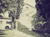 Vintage sepia Rocca di Castiglione Orcia, Italy — Stock Photo