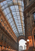 Galleria vittorio emanuele ii Milão — Fotografia Stock