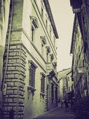 Vintage sepia Montepulciano, Italy — Stock Photo