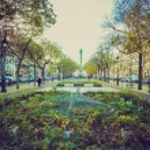 Retro look Place de la Bastille Paris — Stock Photo #39145399