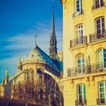 Постер, плакат: Retro look Notre Dame Paris