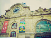 Retro look Quai d Orsai Paris — Stock Photo