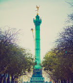 Retro look Place de la Bastille Paris — Stock Photo