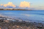 Lanzarote beach na hiszpańskie Wyspy Kanaryjskie — Zdjęcie stockowe