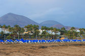 Lanzarote beach on Spanish Canary Island — Stock Photo
