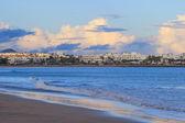 Lanzarote beach sur l'île espagnole de canari — Photo