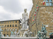 Fountain of Neptune in Florence — Stockfoto