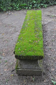 Old bench with moss — Stockfoto