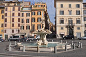 Triton Fountain in Rome — Stock Photo