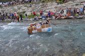 Carton Rapid Race — Stock Photo