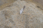 Trowel in sand — Stock Photo