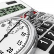 Stock Photo: Calculator and StopWatch