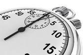 Gümüş modern kronometre — Stok fotoğraf