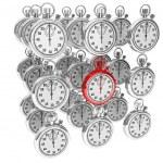 cronometro moderno rosso — Foto Stock