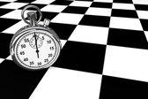 Silver modern Stopwatch — Stock Photo