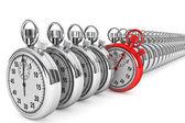 Red modern Stopwatch — Stock Photo