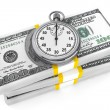 Dollars and Stopwatch — Stock Photo #13249148