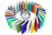 Books with StopWatch — Stock Photo