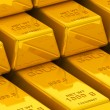 Stacked golden bars — Stock Photo #13639047