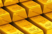 Stacked golden bars — Stock Photo