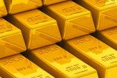 Barras de ouro empilhadas — Foto Stock