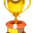 Trophy cup with Life Buoy — Stock Photo #14083152