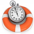 StopWatch with Life Buoy — Foto de Stock