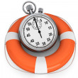 StopWatch with Life Buoy — Stock fotografie