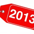 New Year 2013 tag — Stock Photo
