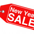 New Year sale tag — Stock Photo