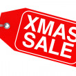 Christmas sale tag — Stock Photo