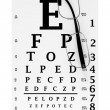 Modern glasses with eyechart - 图库照片