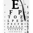 Modern glasses with eyechart - Stock Photo