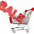 Royalty-Free Stock Photo: Sale Sign in trolley