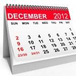 Calendar December 2012 — Stock Photo