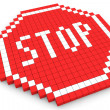 Stock Photo: Stop Traffic Sign