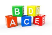 ABCD block cubes — Stock Photo