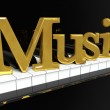 Golden Music Sign — Stock Photo