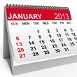 Calendar January 2013 — Stock Photo #16887443