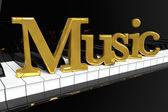 Golden Music Sign — Stock Photo