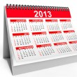 Desktop calendar for 2013 — Stock Photo #18153893
