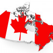 Canada map with flag — Stock Photo #18154363